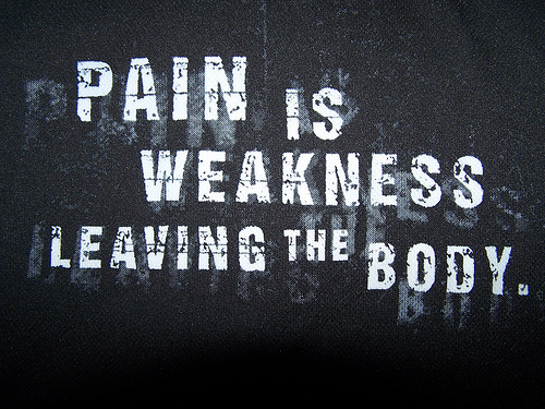 Pain hurts and can mean an injury that will sideline you for a long time.